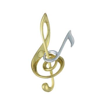 Harmónia - Violin kulcs és hangjegy - fém ördöglakat