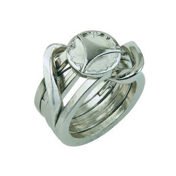 Fém ördöglakat  formája pecsétgyűrű