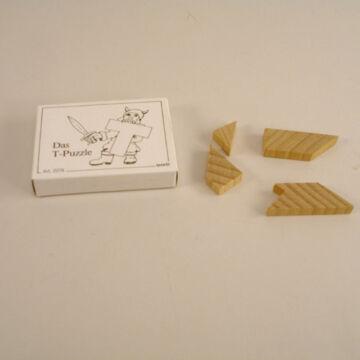 T betű kirakó  gyufásdoboz  puzzle fából