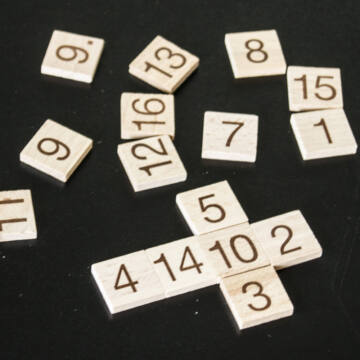 Mágikus Négyzet - gyufás doboz játék fából
