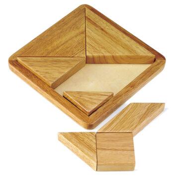 Klasszikus tangram fából - nagy