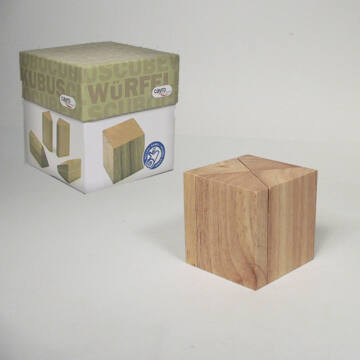 Kocka - puzzle fából