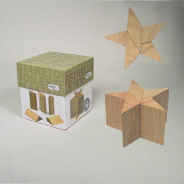 Csillag  puzzle fából