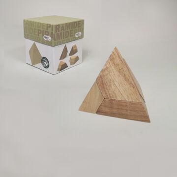 Piramis  logikai puzzle fából