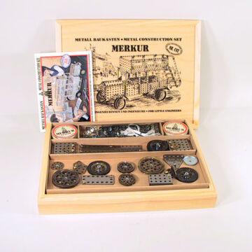 MERKUR Classic - C02 -alapdoboz - fából készült, exkluzív tartóban