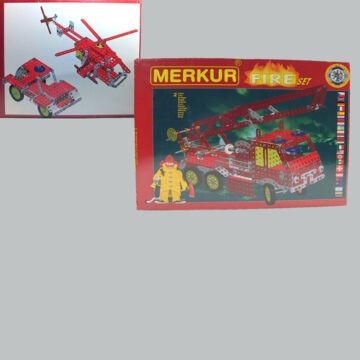Tűzoltóautó - MERKUR - fémépítőszett