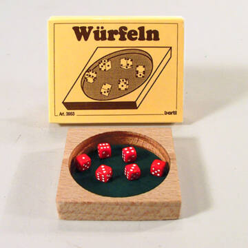Dice game small pocket set