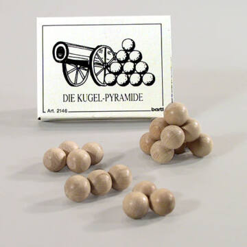 Golyópiramis - gyufás doboz játék