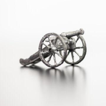 Festetlen ágyú  4 cm  ólomfigura