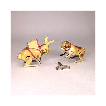 Kutya és nyúl lemezből -  eredeti Paya gyártmány - 1928-as modell