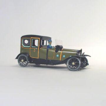 AUTÓ ZÖLD LIMUZIN  Paya lemezjáték 1923as modell