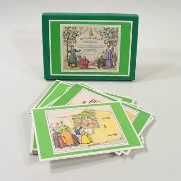Karácsonyi vásár  -  XIX. századi grafikák -  üdvözlőlapok borítékkal