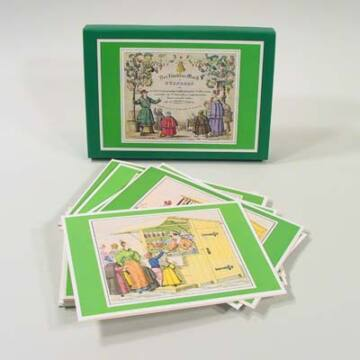 Karácsonyi vásár    XIX. századi grafikák   üdvözlőlapok borítékkal
