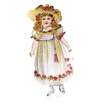 Lady Jane - papír öltöztetöbaba szett