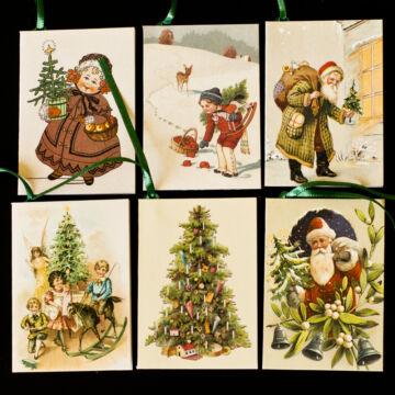 Karácsonyi kísérő kártya 6 féle