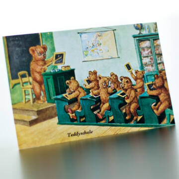 Bear Scool simple postcard set 5db