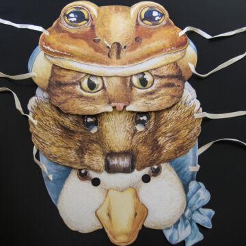 Beatrix Potter Állat maszk  gyerek méret