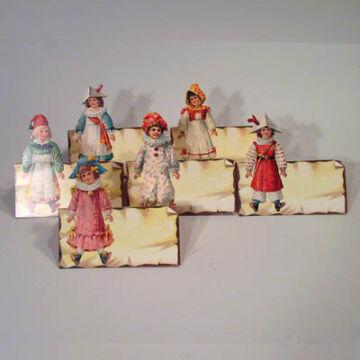 Játékos gyerekek - ültetőkártya (szett)