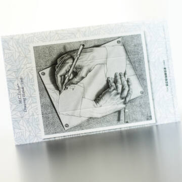 Escher: Drawing Hands - 3D stereo card 55131