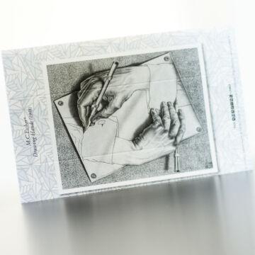 Escher: egymást rajzoló kezek  sztereóképeslap 55131