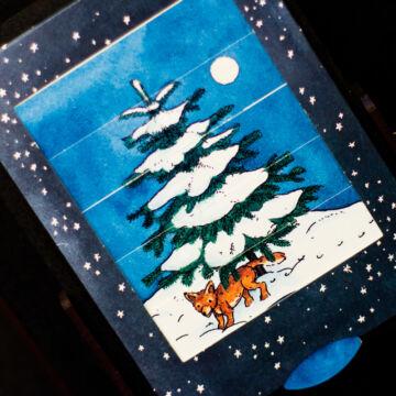 Christmas tree -changing card