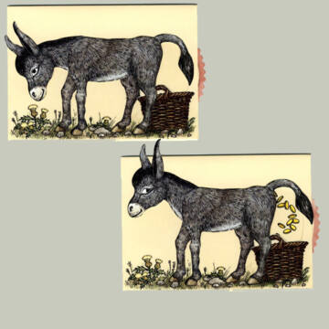 Lucky Gold Donkey changing card