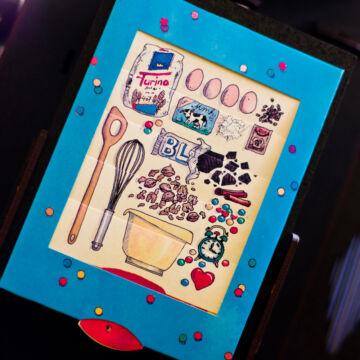Cukrászművészet - születésnapi torta készítés - változó képeslap