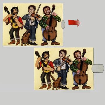 Zenekar - változó képeslap