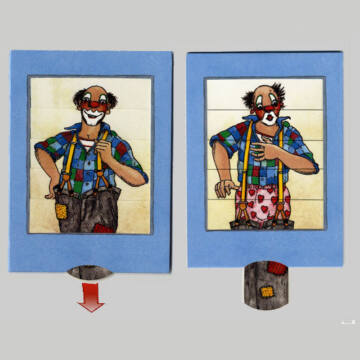 Funny suspenders - changing card