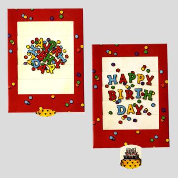 Happy Birthday  Boldog születésnapot  változó képeslap