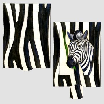 Zebracsíkok  változó képeslap