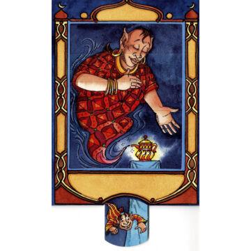 Dzsinn és a csodalámpa változó képeslap