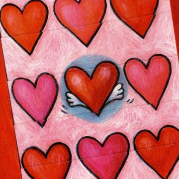 Szívek násza  változó képeslap