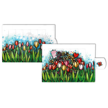 Tulips changing card