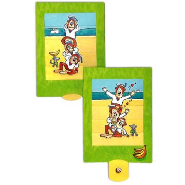 A három majom - változó képeslap