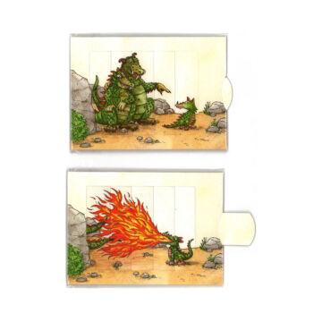 Sárkány család változó képeslap