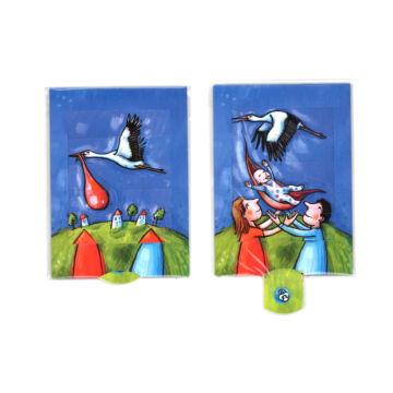 Stork brings ... -changing card
