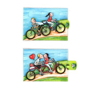 Kerékpárral  változó képeslap