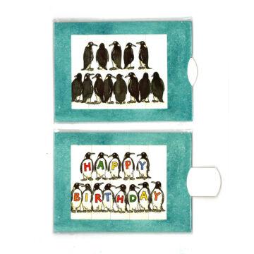 Pingvinek változó képeslap