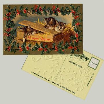 Christmas card for animal funs - Cats