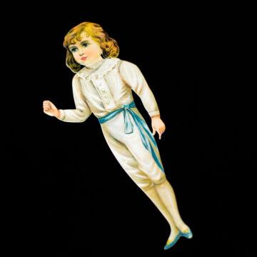 Herceg papír fiú öltöztetőbaba hasonmás