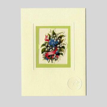 Gyöngyvirág - üdvözlőlap borítékkal