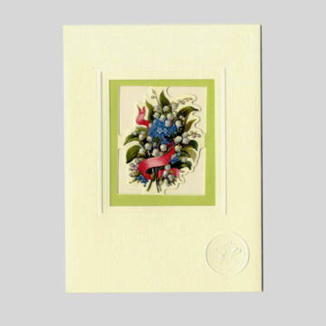 Gyöngyvirág  üdvözlőlap borítékkal