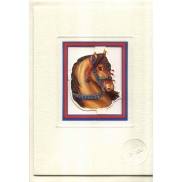 Dísz lovas  üdvözlőlap borítékkal