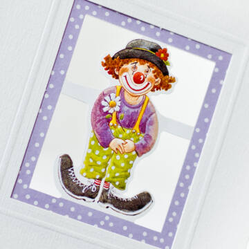 Clown card with envelope