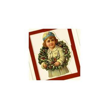 Girl with Christmas rope card