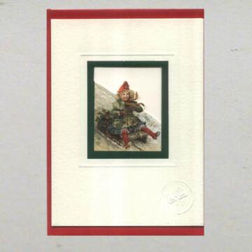 Skating girl greetings card with envelope