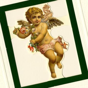 Angyal - karácsonyi üdvözlő lap