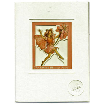 Almond flower fairy - card with window and envelope