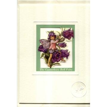Bell flower card with window and envelope
